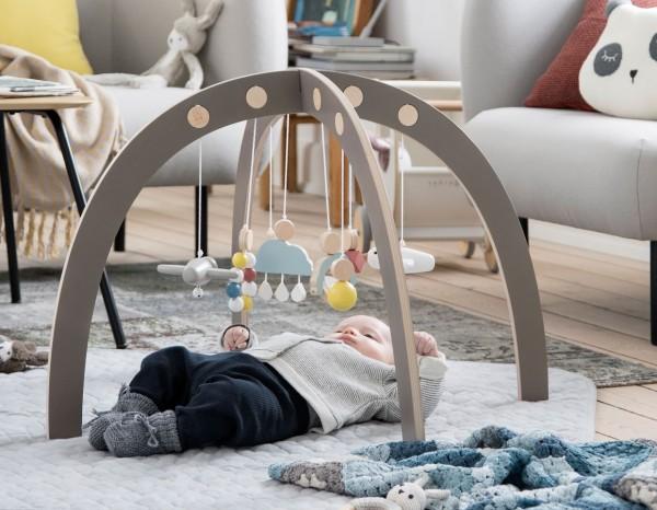 Sebra Babygym Spielbogen grau