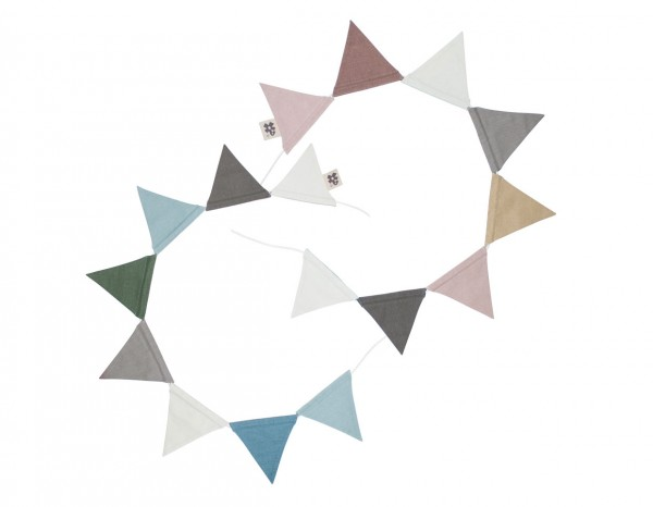 Sebra Wimpel, doppelseitig, pflaume/royalblau